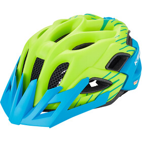 KED Status Jr. Helmet Kinder green blue matt
